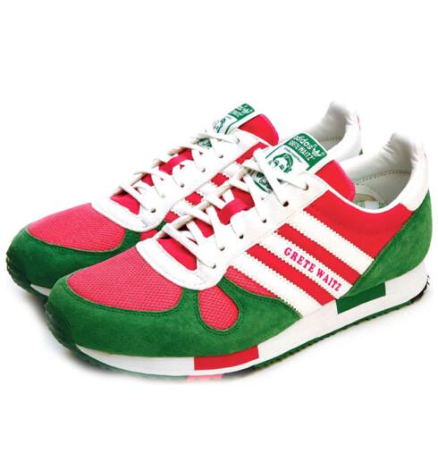 Hvem kan motstå disse skoene som er dedisert til selveste Grete Waitz? (kr 1200, Adidas)