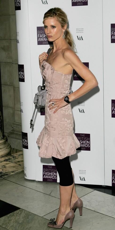 Modellen Laura Bailey kombinerer romantikk med rock.