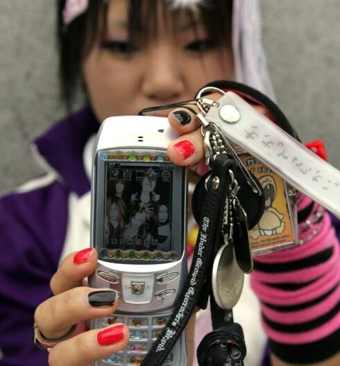 En ekte Harajuku-jente fra undergrunnen i Tokyo.