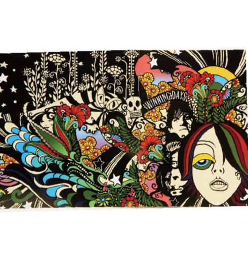 CD-coveret til den andre albumet fra det australske rockebandet The vines - «Winning days» - er så psykedelisk som det kan få blitt.