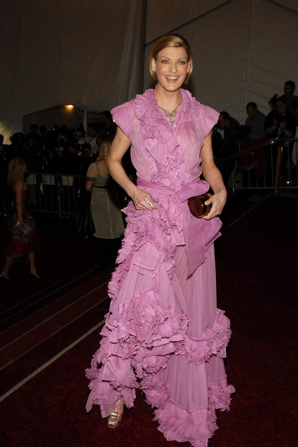 Supermodell Linda Evangelista i  YSL.