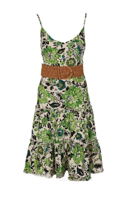Lekker kjole med tidsriktig snitt og bestemorsroser (kr 700, Benetton).