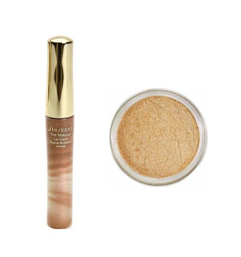 Skimrende beige lipgloss fra Shiseido (kr 195).