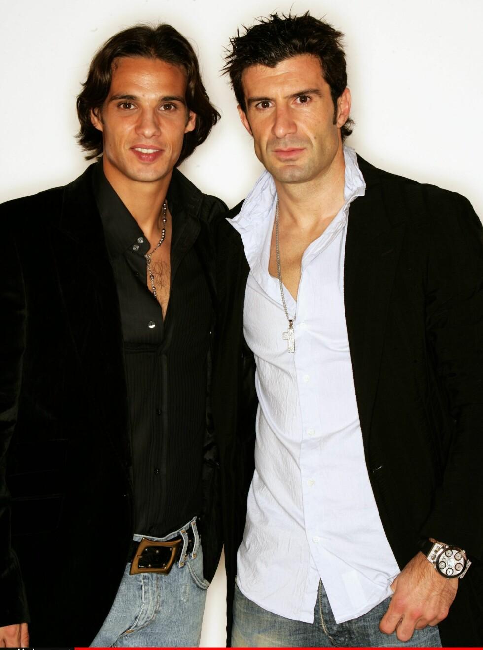 PORTUGAL: Nuno Gomez (til venstre) og  Luis Figo