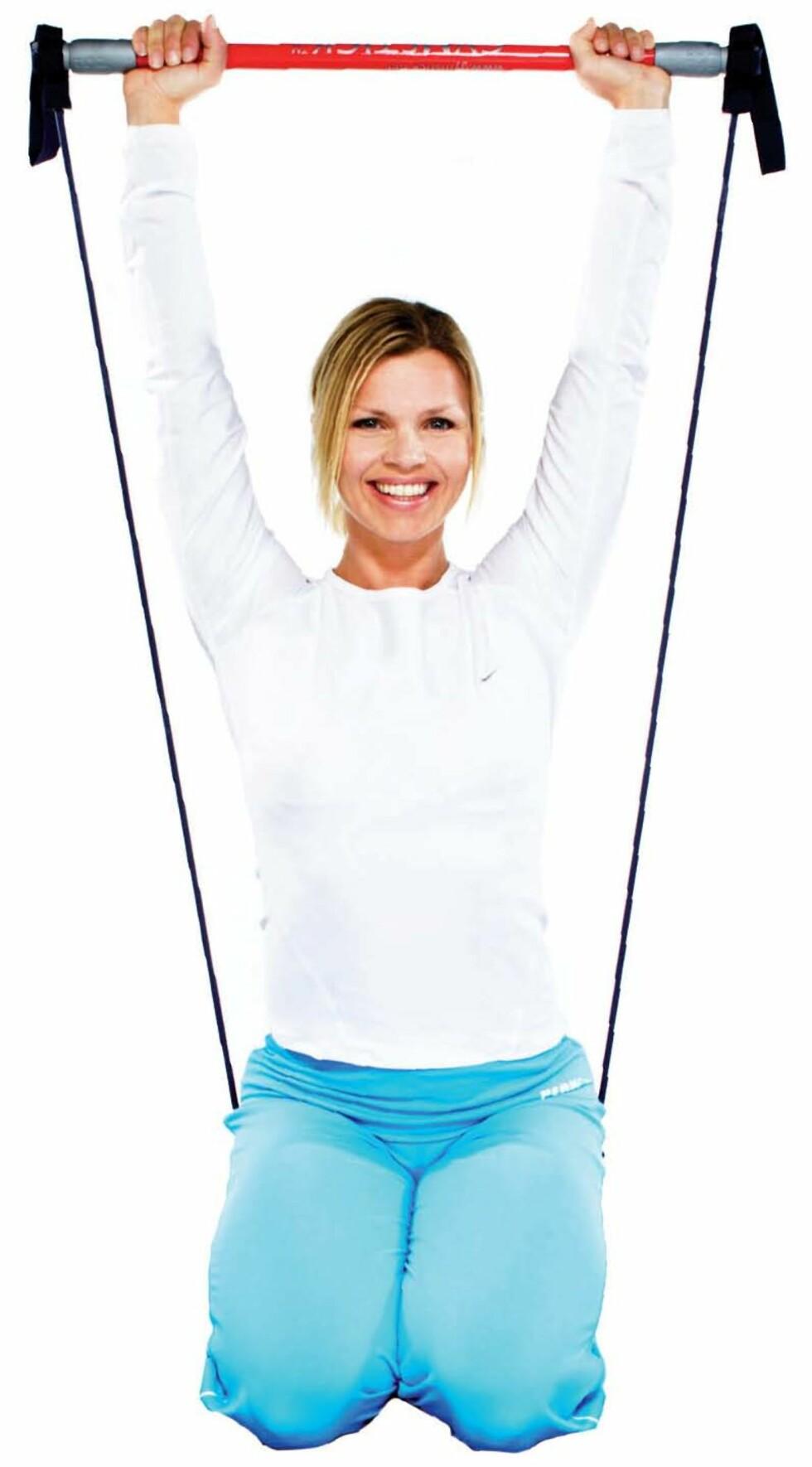 Gymstick kan brukes hjemme og på senter. Foto: Steinar Torvbråten