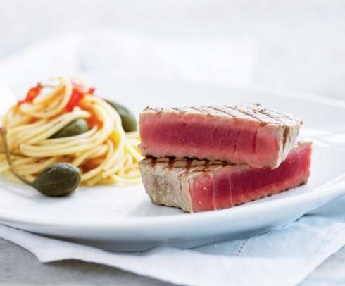 Grillet tunfisk.