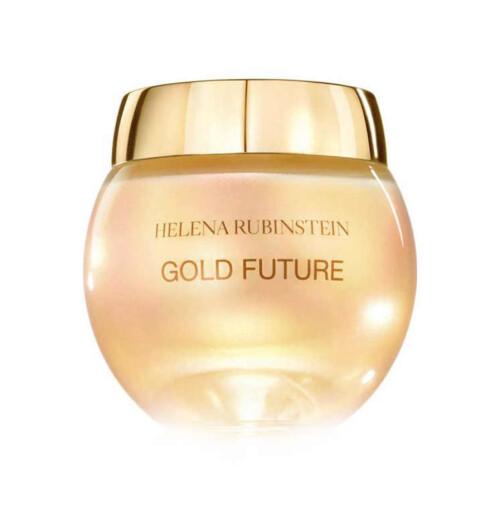 Gold Future er en rik fuktighetskrem med mikropartikler av ekte gull(kr 1100 for 50 ml, Helena Rubinstein).