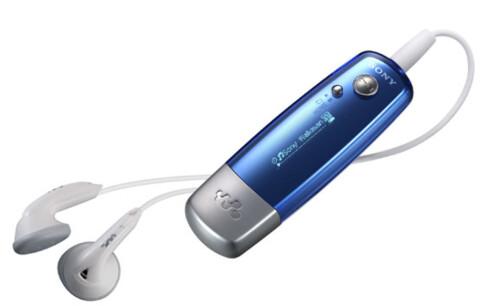 Splitter nye og bittelille Sony Walkman Gamma veier bare 25 gram, har 28 timers batterikapasitet og finnes i 512 MB, 1 GB og 2 GB-variant i fem ulike farger. Priser fra 740-1300 kroner.