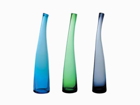 Vasen «Breeze» er designet av Lena Hansson (kr 400, Hadeland Glassverk).