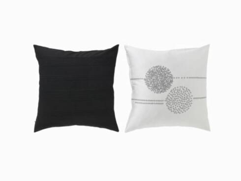 Putetrekkene «Lotten Rand» i bomullssateng (kr 100 pr. par, Ikea).