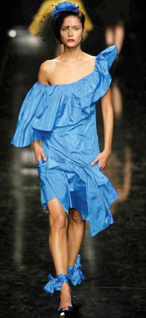 Sonia Rykiel er fransk og entret scenen i 1962 med mammakjoler og gensere.Genseren ble hennes symbol, og noen år senere ble hun ble kåret til«Strikkedronningen». Siden den gang har 75-åringen utvidet repertoaret med herre- og barnekolleksjon,sko, parfyme og makeup.Varemerket er klassisk fransk eleganse.Bildet viser en kjole fra Rykiels sommerkolleksjon.