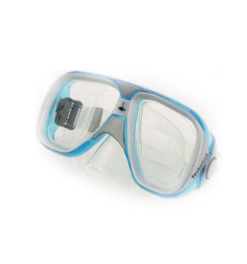 Akvafarget dykkermaske spesiallagd for jenter(kr 550, Techniscub Idea/Hydro Dykkesenter).