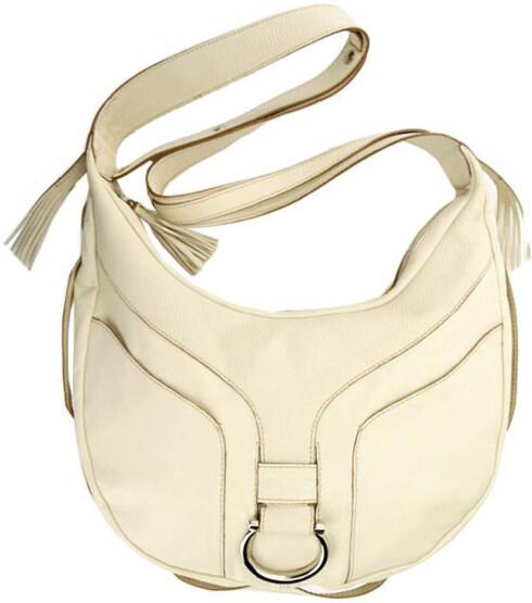 Sadelveske i skinn med skulderrem (kr 2150,Tosca Blue/City Bag).