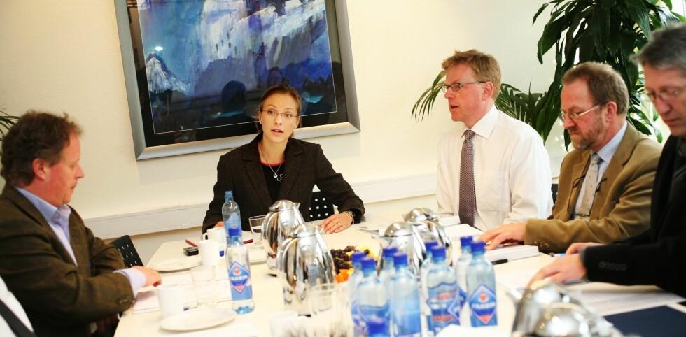 Øverst ved bordet: Nini Høegh Nergaard leder OPAKs styre.