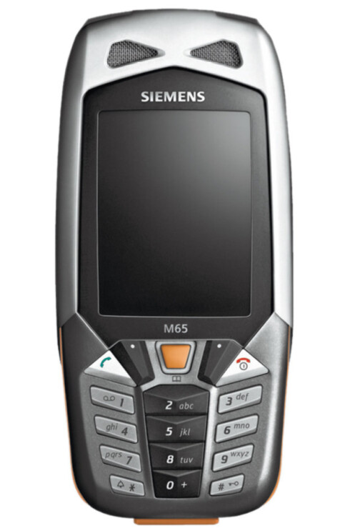 Siemens M65 har innebygget sykkelcomputer og tåler en støyt. Ikke den nyeste modellen, men nettopp derfor kan du antakelig få den ganske rimelig.