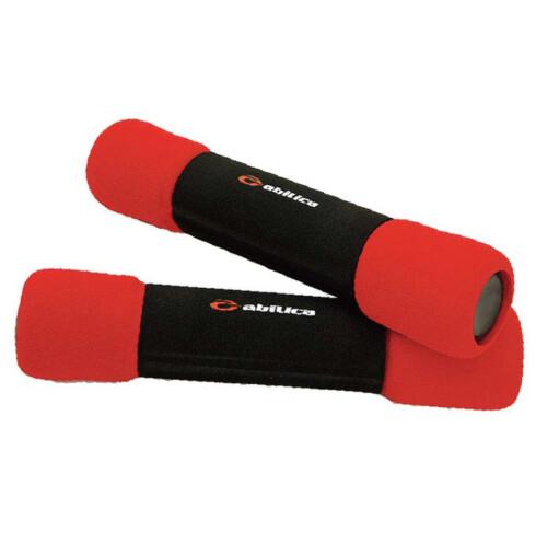 Hendige manualer finnes i forskjellige tyngder. Disse veier 1,5 kilo (kr 200, Abilica, Lady Sport).