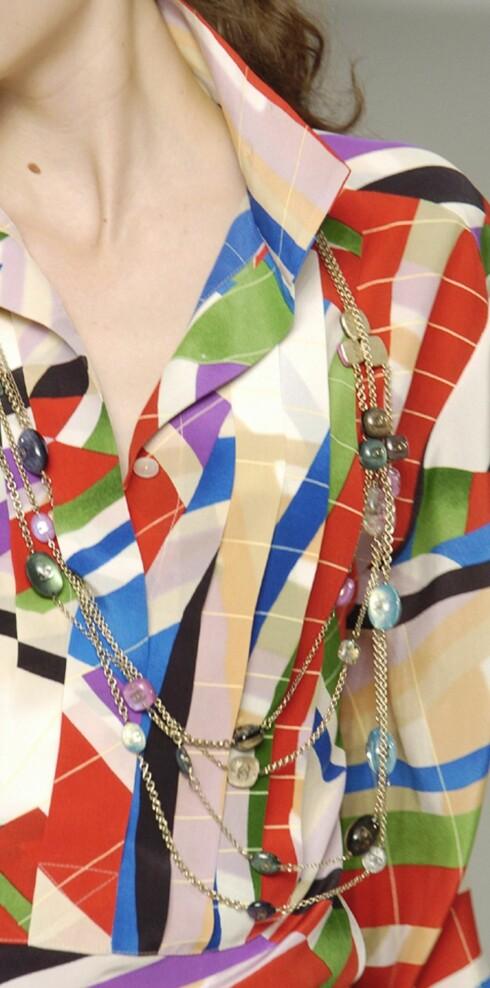 Lange halskjeder fra Chanel.