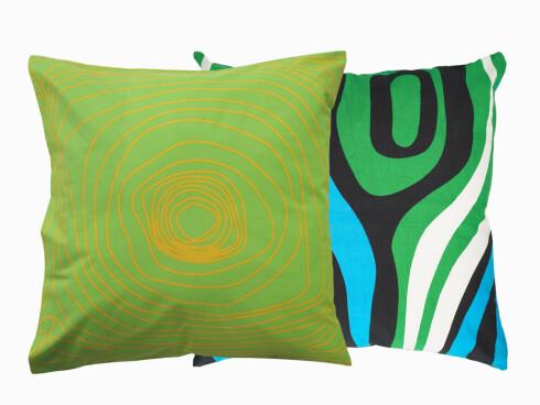 Tekstilputen Bibbi (kr 50) og puten Bettan (kr 70, begge fra Ikea).