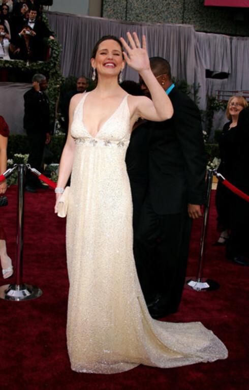 Jennifer Garner fikk nylig sitt første barn med Ben Affleck. Det var det ingen som skulle tro. Hun strålte i glitrende, sval kjole.