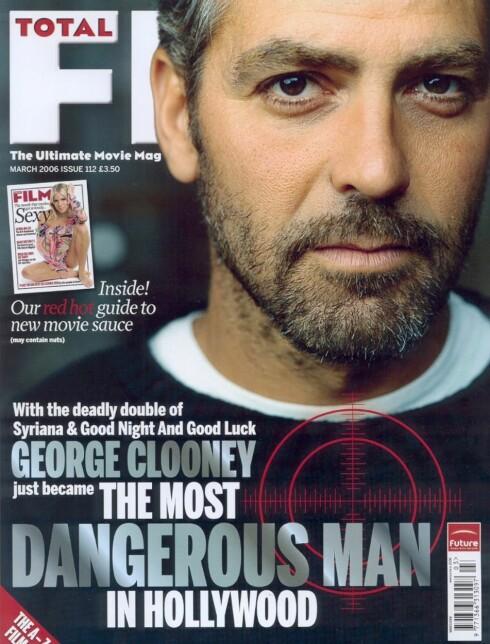 Var sexy, ble farlig: George Clooney. (Faksimile: Total Film Magazine)