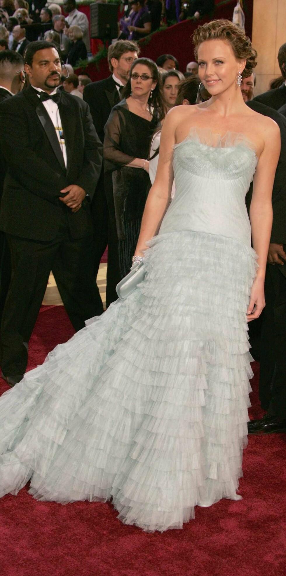 Charlize Theron vant Oscar for innsatsen i Monster.