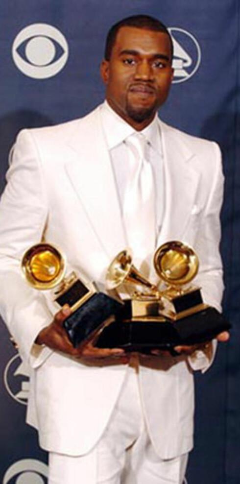 Prisvinner: Rapperen Kanye West.