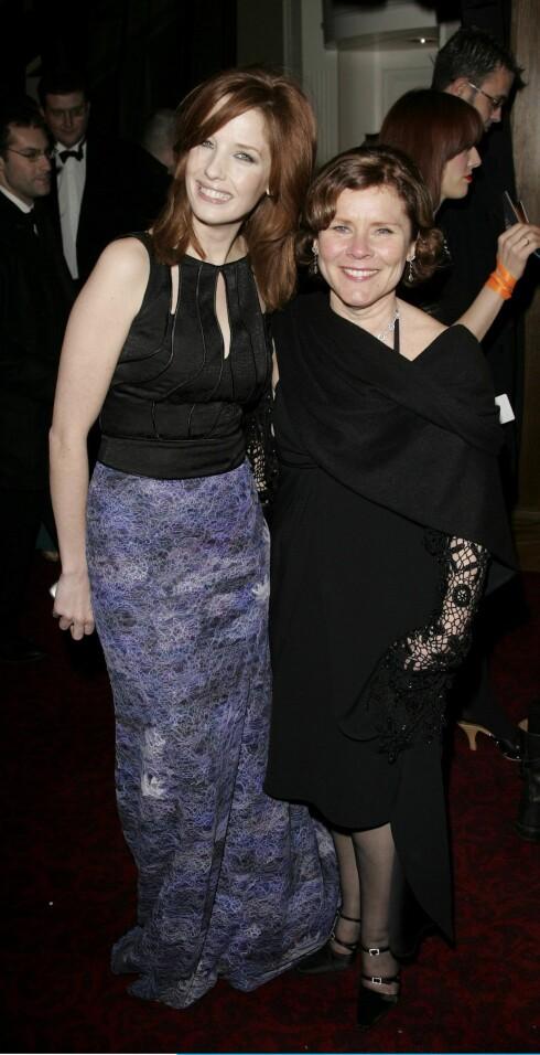 Skuespiller Kelly Reilly (t.v.) og  Imelda Staunton, som vant BAFTA-pris for beste kvinnelige skuespiller med Vera Drake i 2004.
