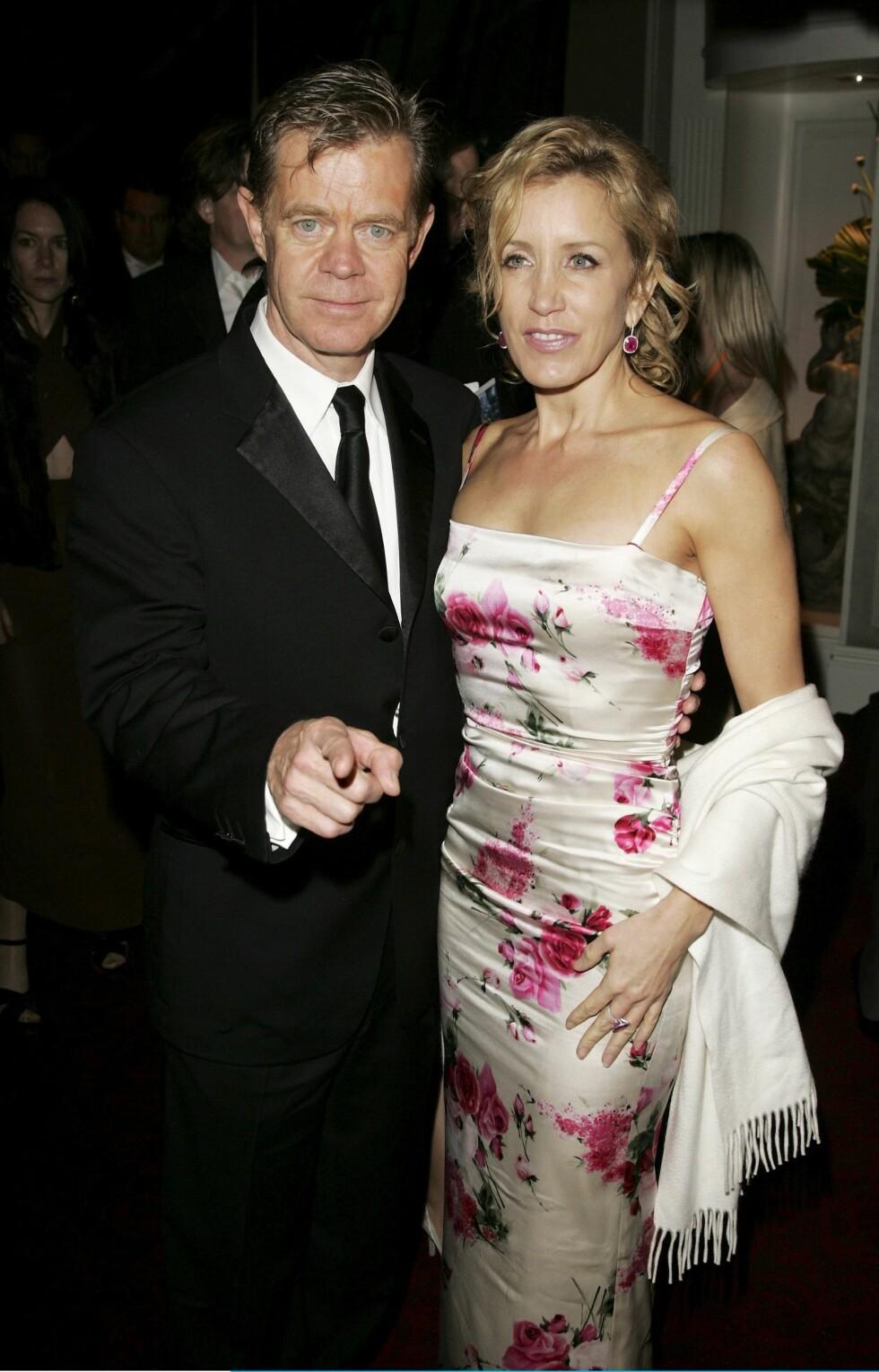 Skuespillerparet William H. Macy og Felicity  Huffman fra Frustrerte Fruer.
