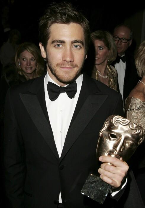 Jake Gyllenhaal fikk BAFTA-pris for beste mannlige birolle i Brokeback Mountain, som han også er Oscar-nominert for.