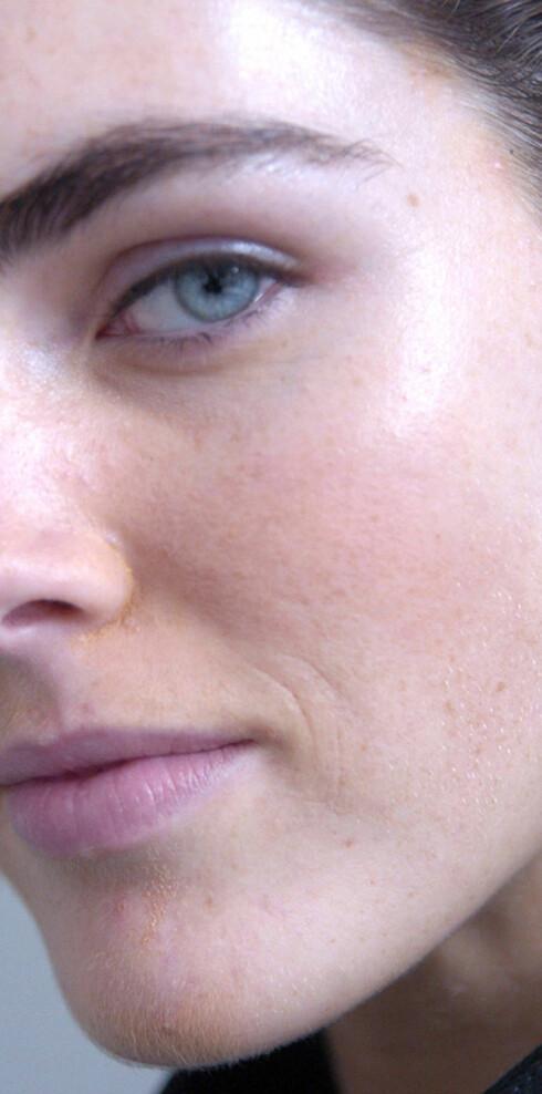Supermodeller må ha glatt og fin hud, selv uten sminke.