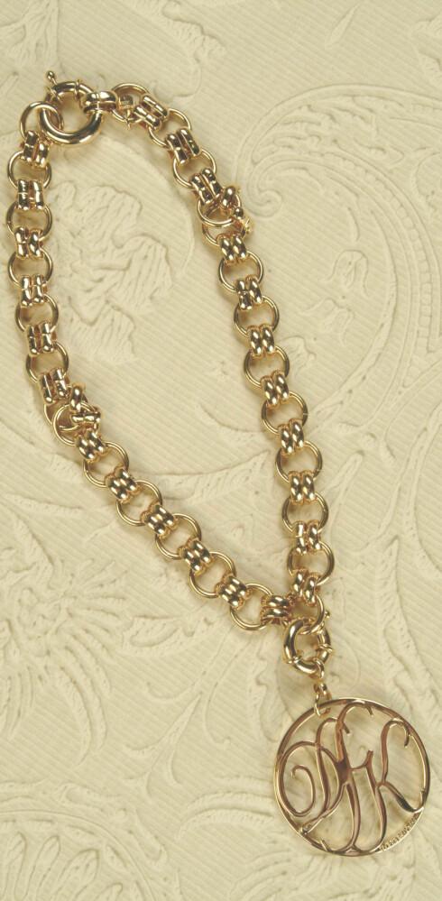 Tykt gullbelagt halskjede  (kr 375, Dyrberg/Kern)