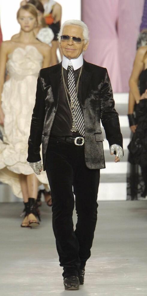 Sjefen selv. Karl Lagerfeld.
