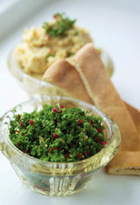 Sprø pita med humus