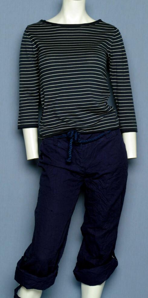 Genser (kr 700, Marc o Polo), bukse (kr 250, H&M)