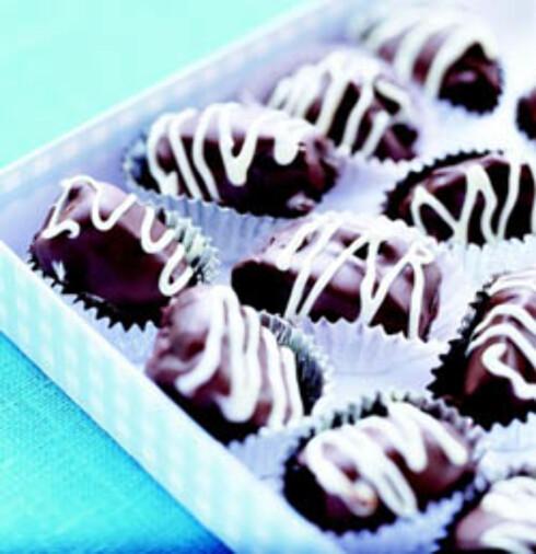 Mandel i sjokoladefiken
