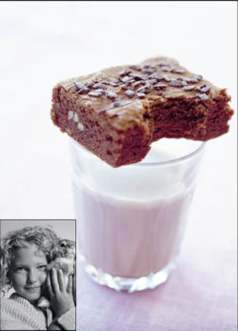 Saftig sjokoladebrownie (innfelt: Vilde Phoebe Lauvdal Conley)