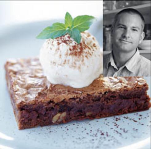 Lettvint dobbel sjokoladechip-brownie (innfelt: Craig Conley)