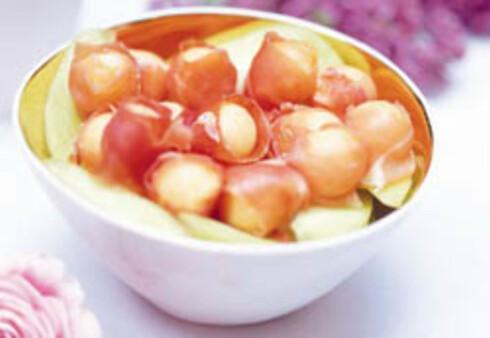 Melonkuler i skinke
