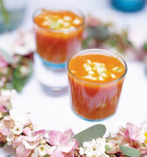 Gazpacho på bakte tomater og paprika