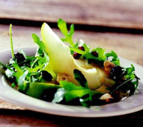 Pæresalat med ruccola