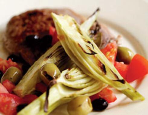 Kotelett med bakt fennikel