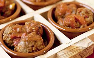 Chilikjøttboller med het saus