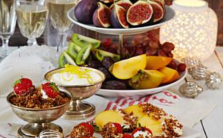 Fruktfat med sitronkrem og kokossmuler