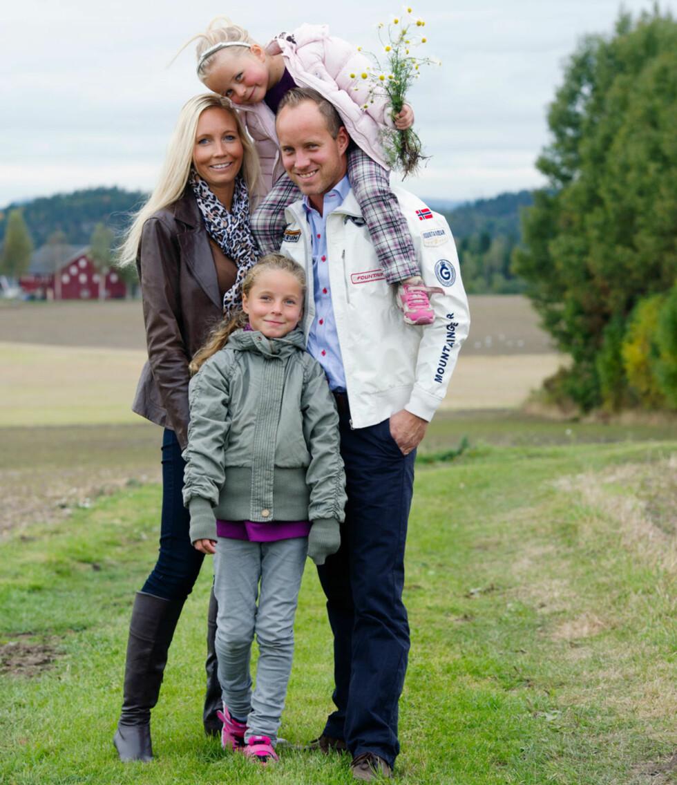 GODE STØTTESPILLERE: Familien betyr alt for Heidi. Her sammen med ektemannen Hans Krister (35), og jentene deres, Nathalie og Michelle.