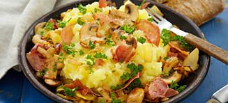 Potetmos med selleri og bacon