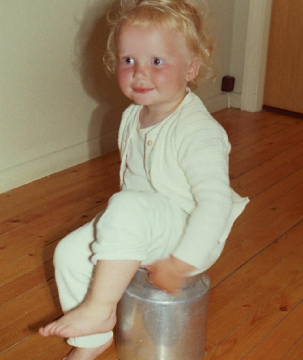 En liten askeladd: Som barn var Hilde Johanne litt som Askeladden, og lekte med det hun kom over.