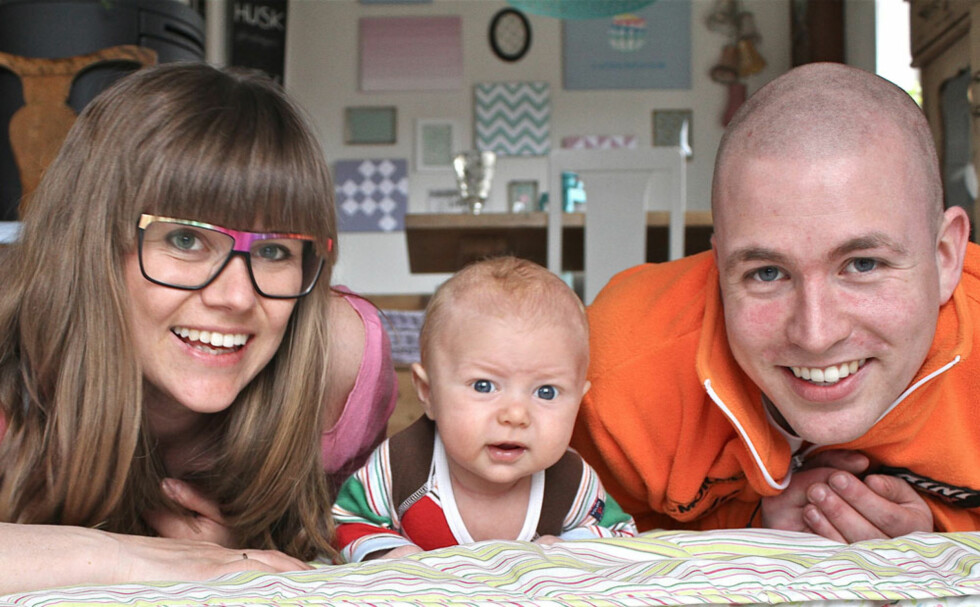 Familiekos: – Lykken er å kose meg hjemme sammen med Aleksander og Sofus, sier Julie.