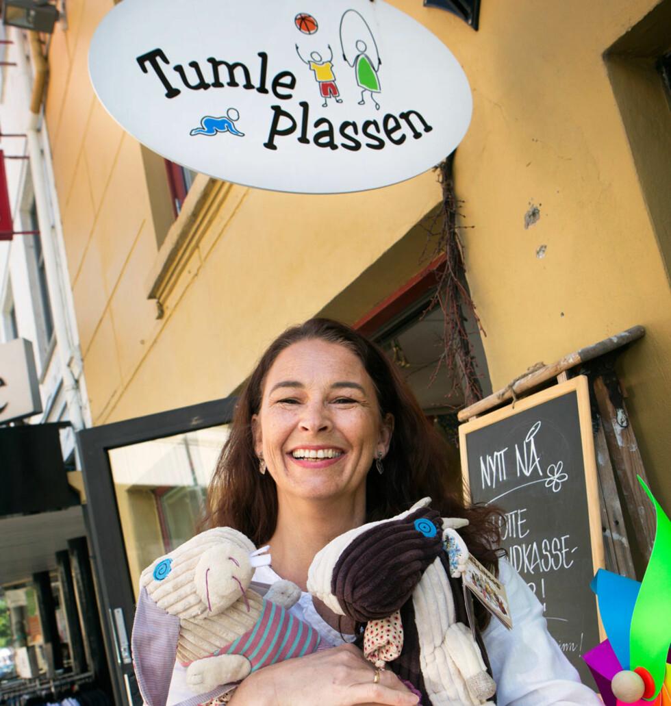 Glad butikk: Hos Gitte B. Sundhaugen får du de søteste gaver til barna.