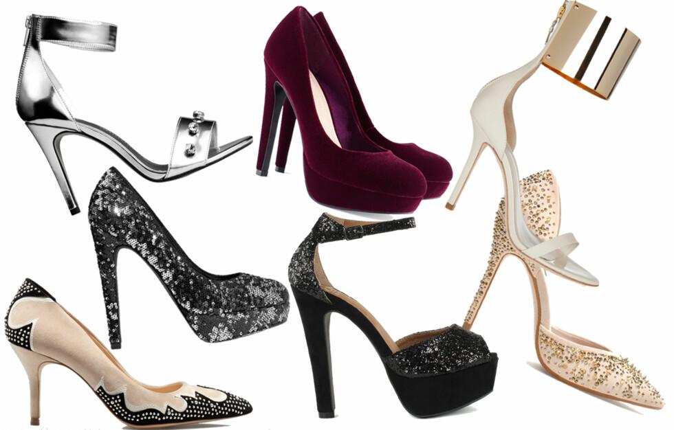 SKOENE SOM GJØR HELE ANTREKKET: Disse skoene gir garantert nytt liv til kjolen du har hengende i skapet! Kjøpsinfo finner du i bildekarusellen lenger ned i saken. Foto: Produsentene