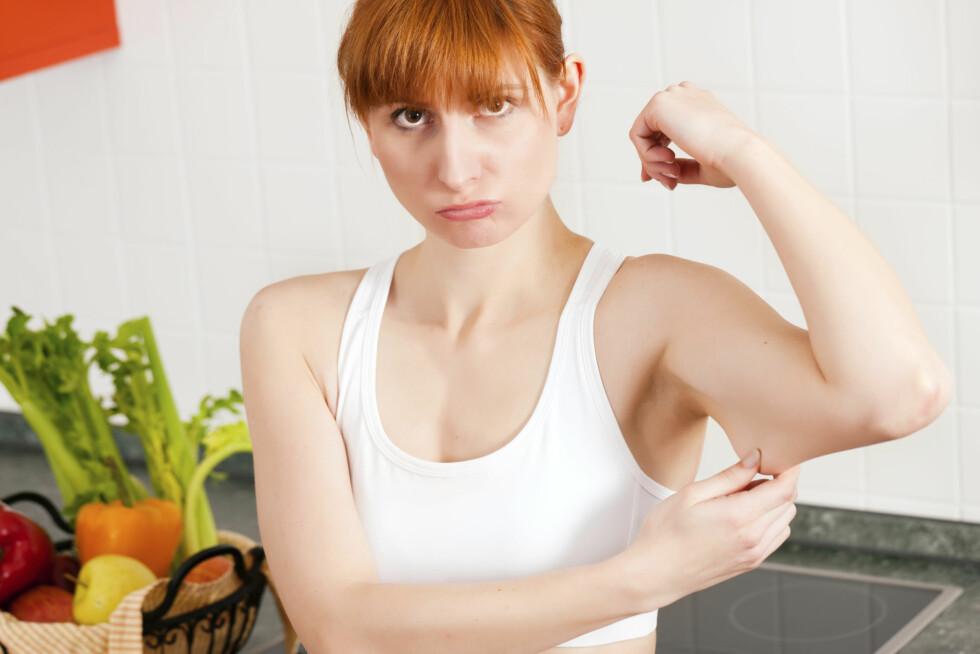 """SLAPP MUSKEL: De mest vanlige årsakene til """"grevinneheng"""" er overvekt, alder eller slapp/utrent underarmsmuskel. Foto: Thinkstock"""